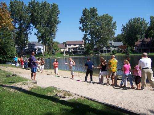 A Team Challenge at Annual Summer Luau